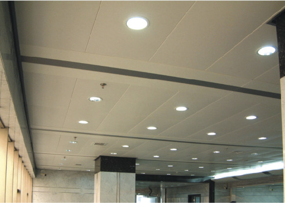 Perforated Acoustic Lay In Ceiling Tiles aluminum , 600mm * 1200mm