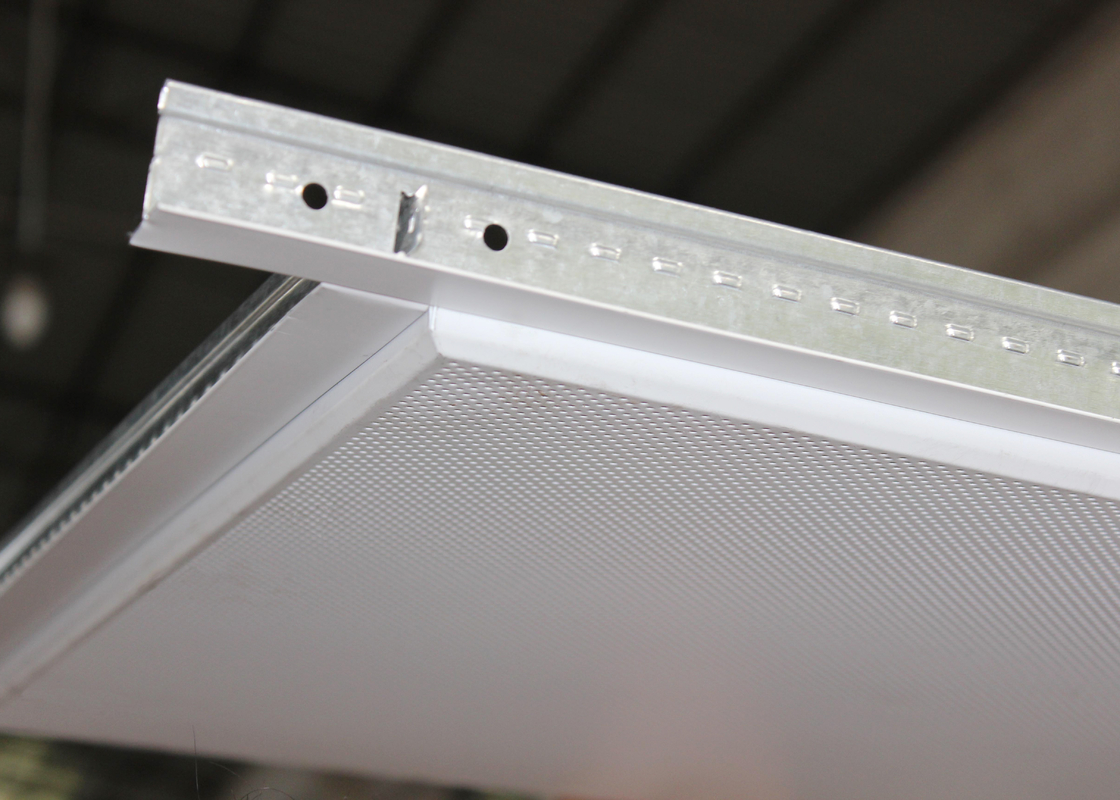 Tee bar Installed Suspended Metal Ceiling Tiles , False Ceiling Panel