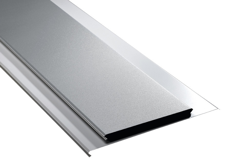 Stamped Metal Aluminium Strip Ceiling Panels / Washable Waterproof Ceiling Tiles
